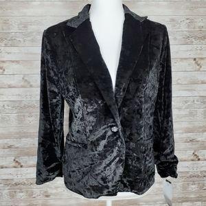 XOXO Crushed Velvet Black Jacket 286